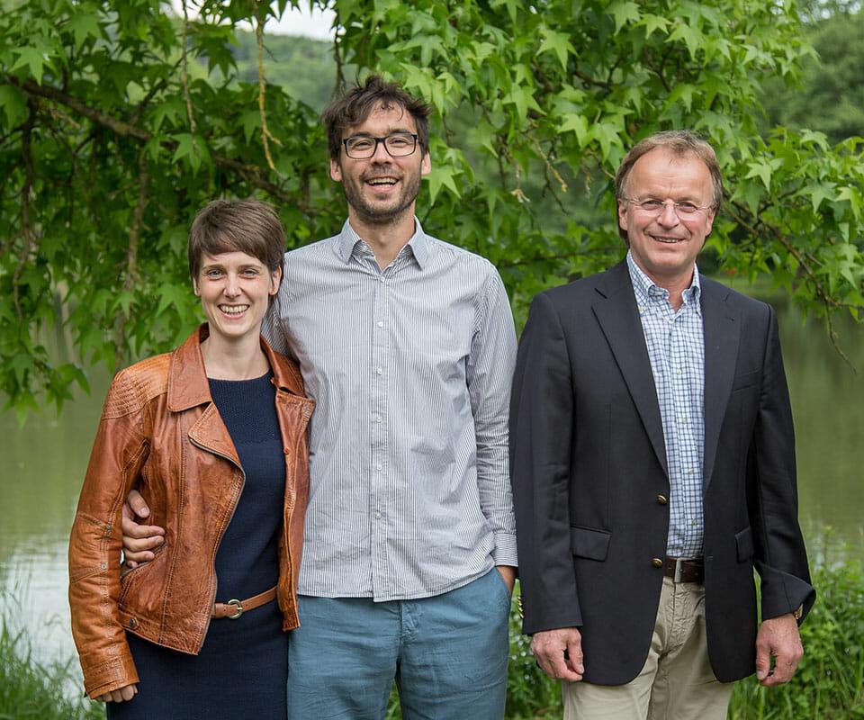 Romy Engel, Claus Engel und Johannes Fischer